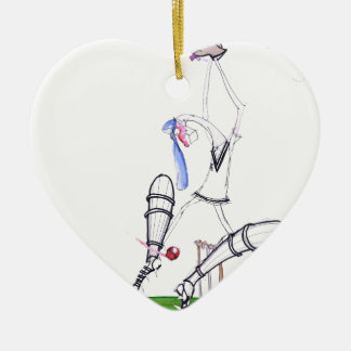 nutmeg - cricket, tony fernandes ceramic heart ornament
