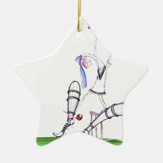 nutmeg - cricket, tony fernandes ceramic star ornament