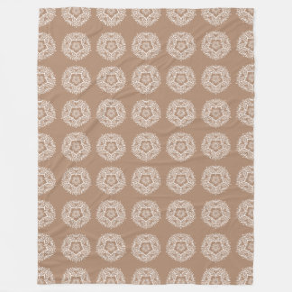 Nutmeg Mandala Fleece Blanket