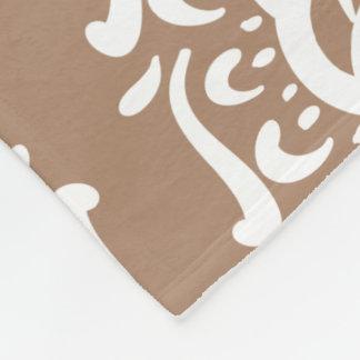 Nutmeg Mandala Fleece Blanket