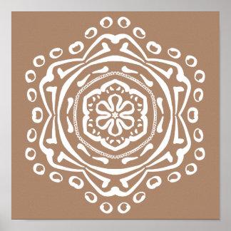 Nutmeg Mandala Poster