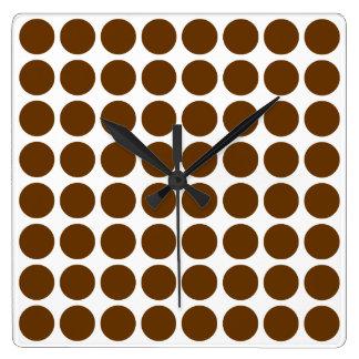 Nutmeg Neutral Dots Clock
