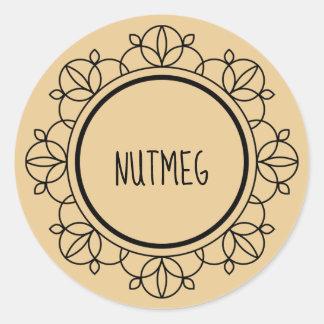 Nutmeg spice labels