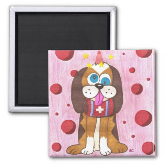 Nutmeg the dog refrigerator magnet