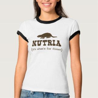 Nutria It's What's for Dinner Ladies Ringer T-Shirt