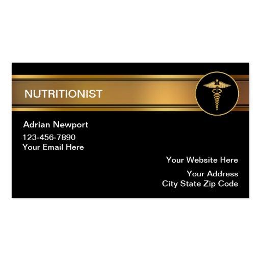 Nutriotionist Business Cards