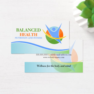 Nutrition and Fitness Coach Business Card