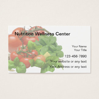 Nutrition Business Cards