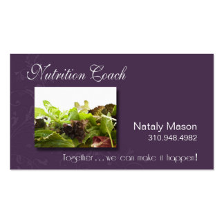"""""""Nutrition Coach"""" Healthy Eating, Weight Loss Business Card"""