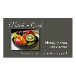 """""""Nutrition Coach"""" Healthy Eating, Weight Loss Pack Of Standard Business Cards"""
