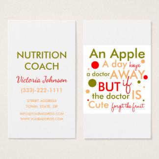 Nutrition Coach Healthy Life Text Design Card