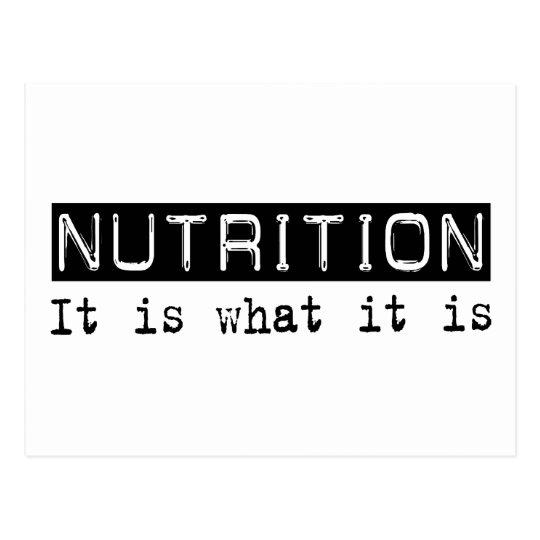 Nutrition It Is Postcard