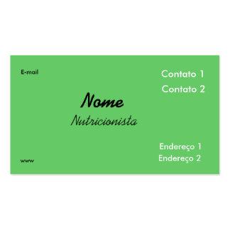 Nutrition kiwi business card