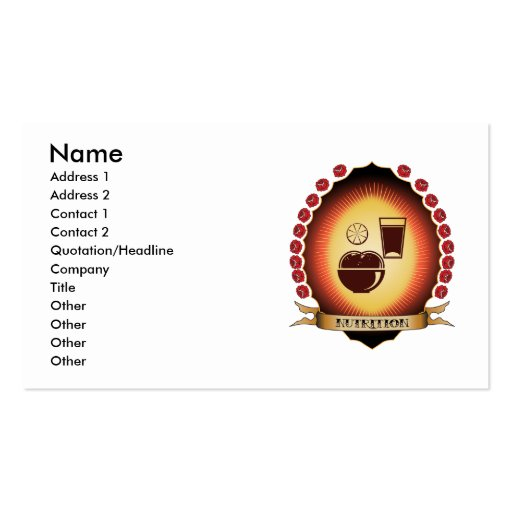Nutrition Mandorla Business Card Templates