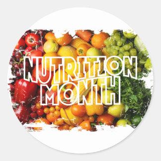 Nutrition Month - Appreciation Day Classic Round Sticker