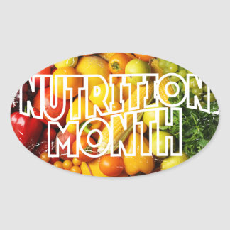 Nutrition Month - Appreciation Day Oval Sticker