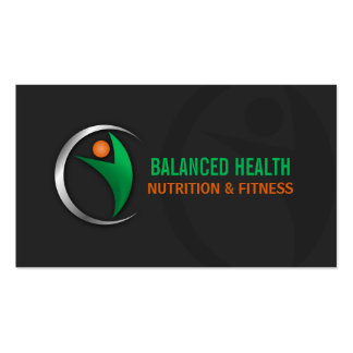 Nutrition Wellness and Fitness Coach Business Card Template