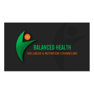 Nutrition Wellness and Fitness Coach Business Card Templates