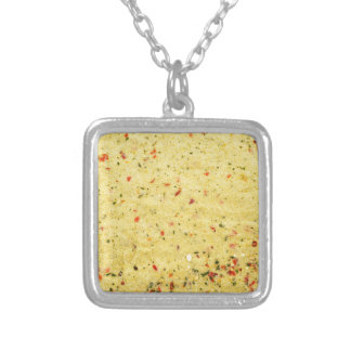 Nutritional Flavor Enhancer texture Silver Plated Necklace