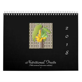 Nutritional Fruits, 2011, (With nutritional info) Wall Calendar