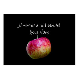 Nutritionist and Health Large Business Card