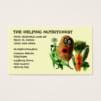 Nutritionist Cartoon Business Card