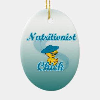 Nutritionist Chick #3 Ceramic Ornament