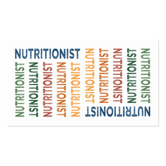 Nutritionist Cute Colorful Business Cards