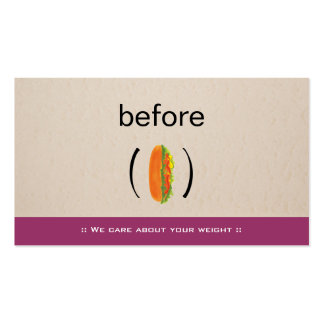 Nutritionist Dietitian Body Weight Loss Coach Double-Sided Standard Business Cards (Pack Of 100)