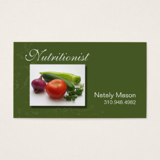 """Nutritionist"" Food Coach, Healthy, Weight Loss Business Card"