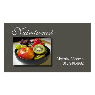 """""""Nutritionist"""" Food Coach, Healthy, Weight Loss Business Card"""