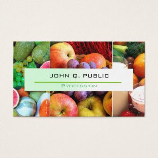 Nutritionist Modern Colorful Fruits Business Card