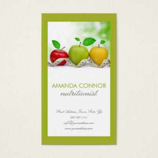 Nutritionist Nutrition Coach Apple Fruit Card