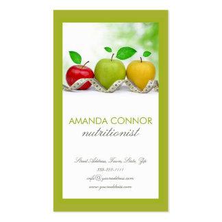 Nutritionist Nutrition Coach Apple Fruit Card Business Card