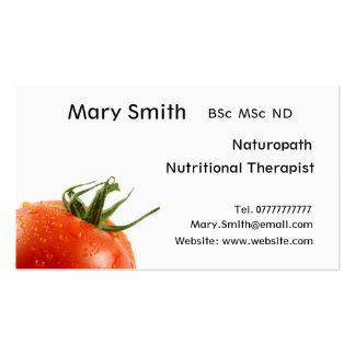 Nutritionist / Nutritional Therapist / Naturopath Double-Sided Standard Business Cards (Pack Of 100)