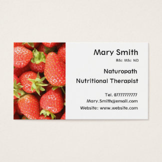 Nutritionist / Nutritional Therapist / Naturopath Business Card