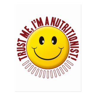 Nutritionist Trust Smiley Postcard