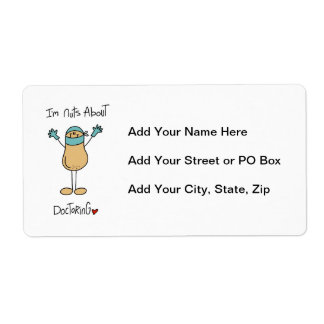 Nuts About Doctoring T-shirts and Gifts Shipping Label