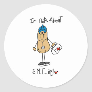 Nuts About EMT-ing Classic Round Sticker