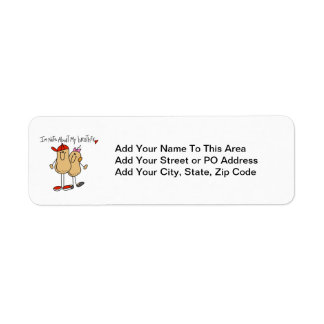 Nuts About My Brother T-shirts and Gifts Return Address Label
