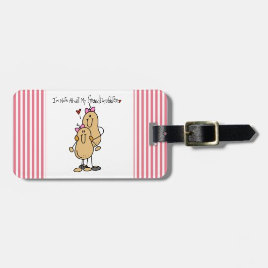 Nuts About My Granddaughter T-shirts and Gifts Bag Tag