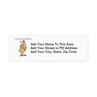 Nuts About My Granddaughter T-shirts and Gifts Return Address Label