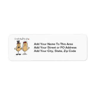 Nuts About My Wife T-shirts and Gifts Return Address Label