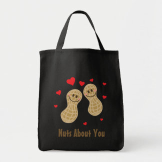 Nuts About You Cute Peanuts Food Pun Humor Cartoon