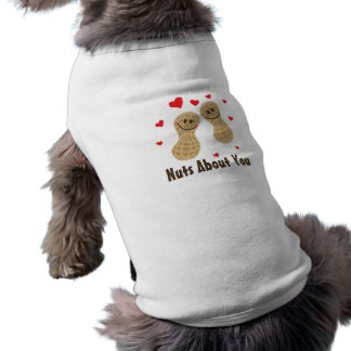 Nuts About You Cute Peanuts Food Pun Humor Cartoon Dog T-shirt