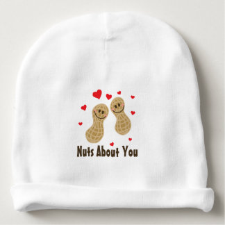 Nuts About You Cute Peanuts Food Pun Humor Unisex Baby Beanie