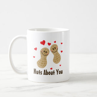 Nuts About You Cute Peanuts Food Pun Humour Coffee Mug