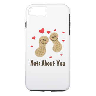 Nuts About You Cute Peanuts Funny Food Pun Humor iPhone 8 Plus/7 Plus Case
