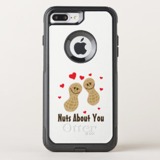 Nuts About You Cute Peanuts Funny Food Pun Humor OtterBox Commuter iPhone 8 Plus/7 Plus Case
