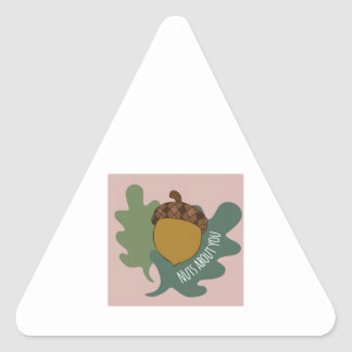 Nuts About You Triangle Sticker